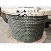 Канат (трос) стальной одинарной свивки типа ЛК-О